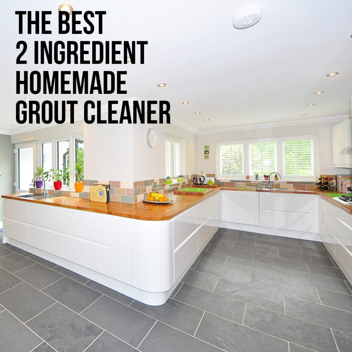 2 Ingredient Homemade Grout Cleaner